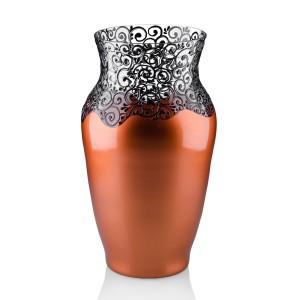 Vaza sticla decorativa, Elise 1/15, cupru + bronz, 26 x 15 cm