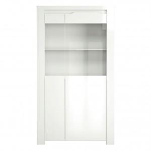 Vitrina living Orlando 0147VI2PK, alba, 92 x 36 x 168 cm, 2C