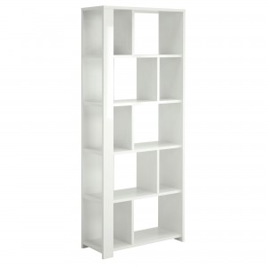 Corp biblioteca Walter 0168BIBLK, alb, 80 x 34 x 200 cm, 2C