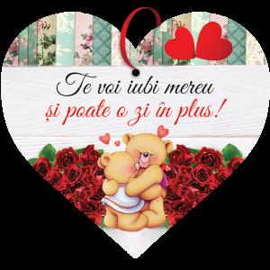 Tablou cu mesaj Valentine s Day, ES9903, inima, 22 x 20 cm