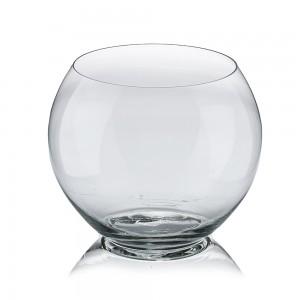 Vaza din sticla transparenta, tip bol, D 20 cm