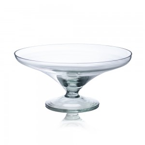 Fructiera din sticla trasparenta, D 24 cm