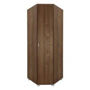 Dulap dormitor Anda, pe colt, stejar bronz, o usa, 87 x 69 x 205 cm, 3C