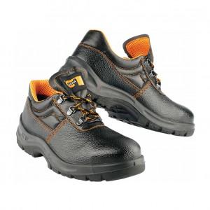 Pantofi de protectie Panda ERG Beta cu bombeu metalic,  negru, S1, marimea 42