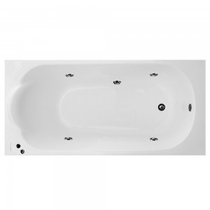 Cada baie cu hidromasaj rectangulara, Martplast Mondo, acril, 150 x 70 cm