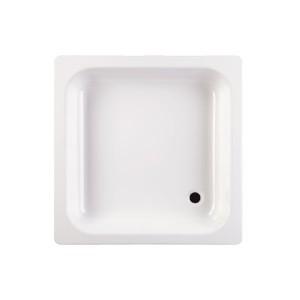 Cadita de dus patrata Fayans 202803, tabla, alb, 80 x 80 cm