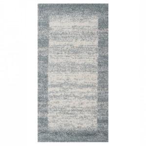 Covor living / dormitor McThree Softn 6897 H313 polipropilena frize, heat-set dreptunghiular albastru 200 x 290 cm