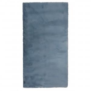 Covor living / dormitor Wuhan Chip Pes 7050 poliester dreptunghiular albastru 80 x 150 cm