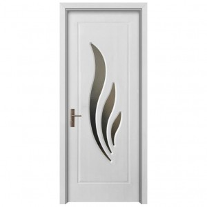 Usa de interior, din lemn, cu geam, SuperDoor F03-88-A, stanga / dreapta, alb, 203 x 88 cm