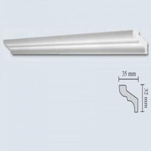 Bagheta polistiren decorativa 735 F35 clasic alb 200 x 3.5 x 3.2 cm