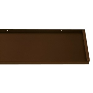 Glaf aluminiu exterior pentru ferestre, maro RAL 8017, 24 x 300 x 0.18 cm