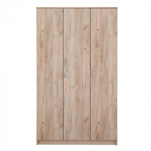 Dulap dormitor Hana 3K, stejar gri, 3 usi, 120 x 52 x 205 cm, 3C