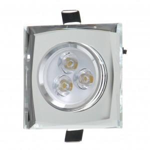 Spot LED incastrat CR 35 70313, 3W, lumina neutra, crom