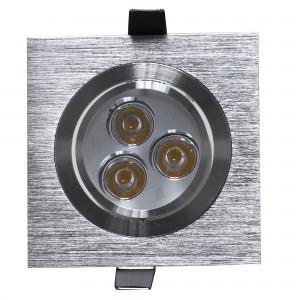 Spot LED incastrat MT 116 70319, 3W, lumina neutra, aluminiu