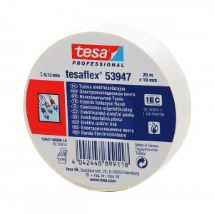 Banda izolatoare Tesa alba 20 m x 19 mm