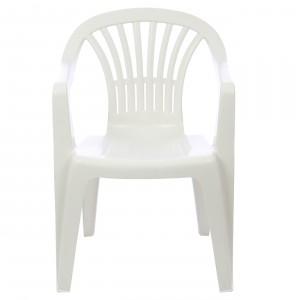 Scaun pentru gradina, Altea, plastic, alb