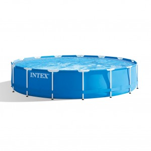 Piscina cu cadru metalic, Intex 28228NP, rotunda, cu pompa de filtrare, 457 x 84 cm