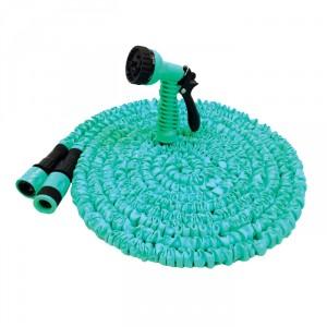 Furtun de gradina, expandabil, pentru apa, 19 mm, rola 10 m + conectori + pistol de stropit