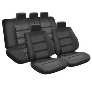 Huse auto pentru scaun, Umbrella Lux, negre cu diverse modele, universale