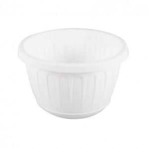 Ghiveci din plastic Stella, suspendat, alb, D 26 cm