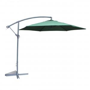 Umbrela soare banana, pentru terasa TA-KK12 , rotunda, structura metal, verde, D 270 cm