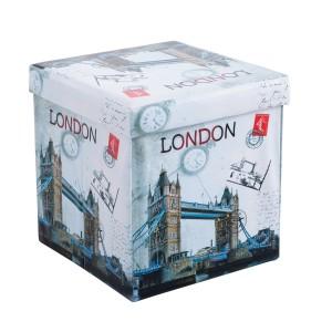 Taburet pliabil London 2 din PVC multicolor