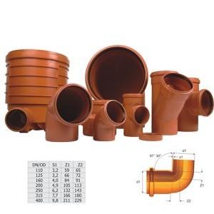 Cot PVC cu inel, 400 x 87 mm