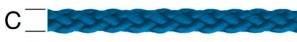 Sfoara polipropilena, albastra, 3 mm