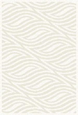 Covor living / dormitor Oriental Weavers Snow Shaggy W 623/Y20 polipropilena BCF dreptunghiular alb 80 x 140 cm