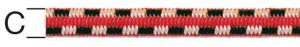 Cablu elastic, din cauciuc,  6 mm