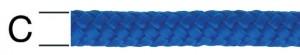 Sfoara polipropilena, albastra, 8 mm