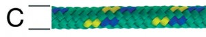 Sfoara polipropilena, multicolora, 6 mm