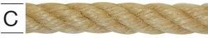 Franghie din canepa 8 mm