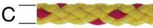 Sfoara polipropilena, rosu + galbena, 8 mm