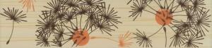 Brau faianta Larissa floral maro mat 6.5 x 25.2 cm