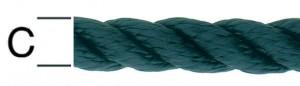 Sfoara poliamida, neagra, 12 mm