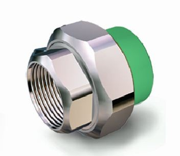 Racord olandez PPR, FI, 32 mm x 1 inch, verde