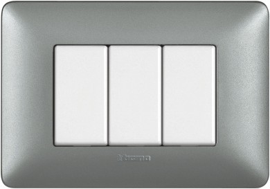 Rama Bticino Matix SAM4803MSLE, 3 module, argintie