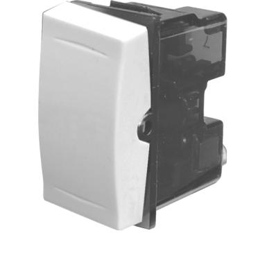 Intrerupator simplu Esperia 300500, incastrat, modular - 1, alb
