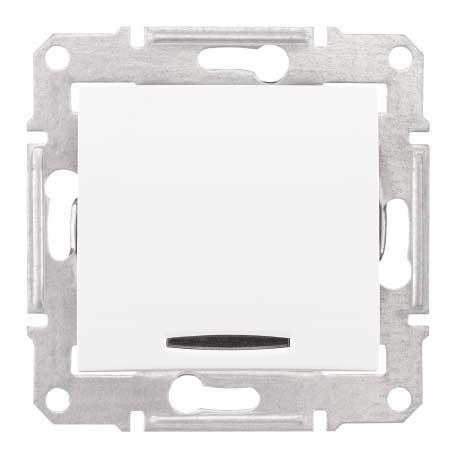 Intrerupator cu revenire si indicator luminos Schneider Electric Sedna SDN1600121, incastrat, alb