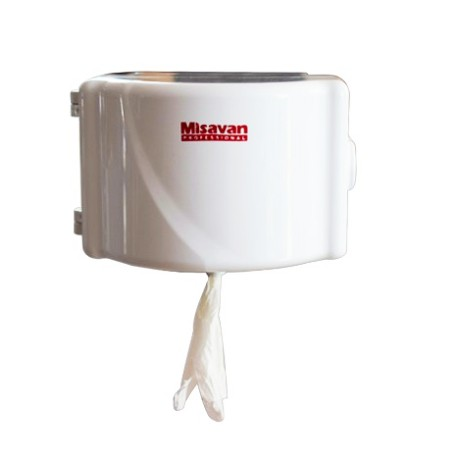 Dispenser hartie igienica mini one by one Misavan, plastic, alb