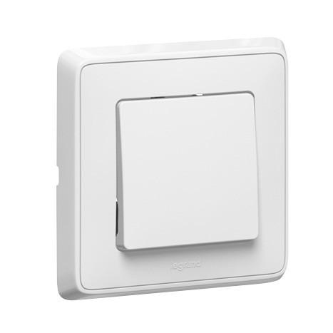 Intrerupator cap scara simplu Legrand Cariva 693951, incastrat, rama inclusa, alb