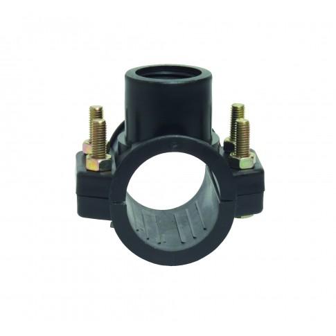 "Colier bransare teava PEHD, cu inel, D 200 mm "" x  3"""
