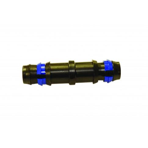 Mufa egala pentru tub pentru irigatii prin picurare, cu inel de siguranta, negru, polipropilena, set 3 buc