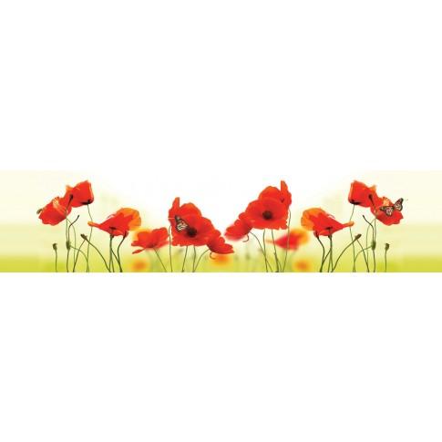 Panou decorativ bucatarie Splashback, compozit, luminescent, SPB 035, floral, 1700 x 600 x 3 mm