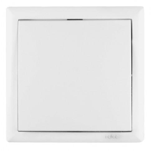 Intrerupator simplu Elegant IMBS E 45563, incastrat, rama inclusa, alb
