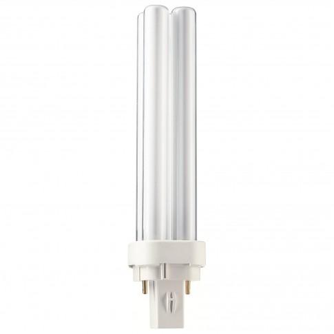 Bec economic Philips Master PL-C 2P tubular G24D-2 18W 1200lm lumina neutra 4000 K