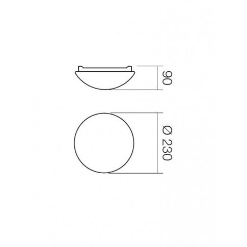 Plafoniera pentru baie Ibis 01-239, 1 x E27, D 230 mm, IP44
