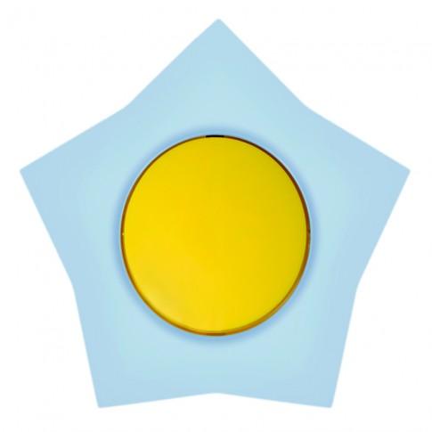 Intrerupator simplu Metalka-Majur Happy 1642001, incastrat, rama inclusa, stea, galben cu bleu