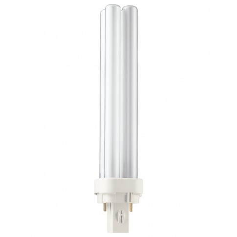 Bec economic Philips Master PL-C 2P tubular G24D-3 26W 1800lm lumina calda 3000 K